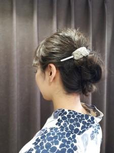 花火大会に浴衣アレンジヘアー